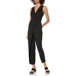 BCBGeneration Sleeveless Wrap-Style Jumpsuit